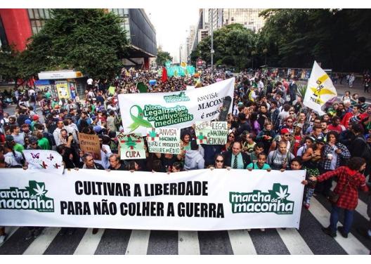 Marcha da maconha em São Paulo (Reprodução, 2015)